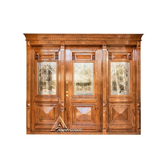 درب لابی - درب ورودی چوبی