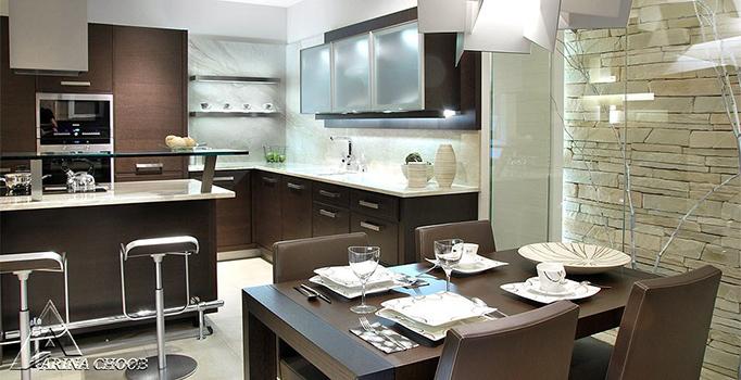 کابینت آشپزخانه چوبی مدرن