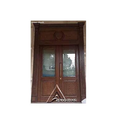 درب ورودی چوبی